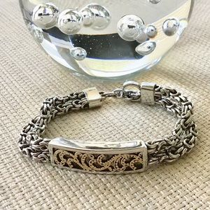 Jewelry - Silver & Gold Cable Style Bracelet